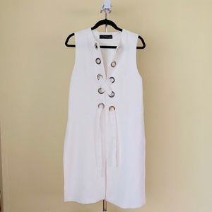 Zara White Tunic with Grommets